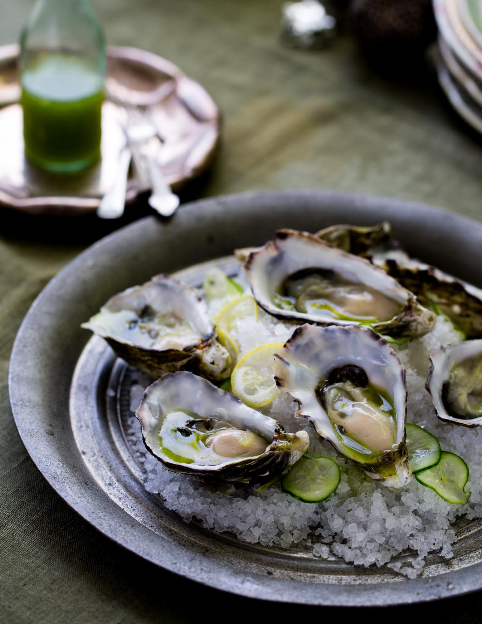 Gin and tonic oysters (Christmas lunch) - At home, Sydney