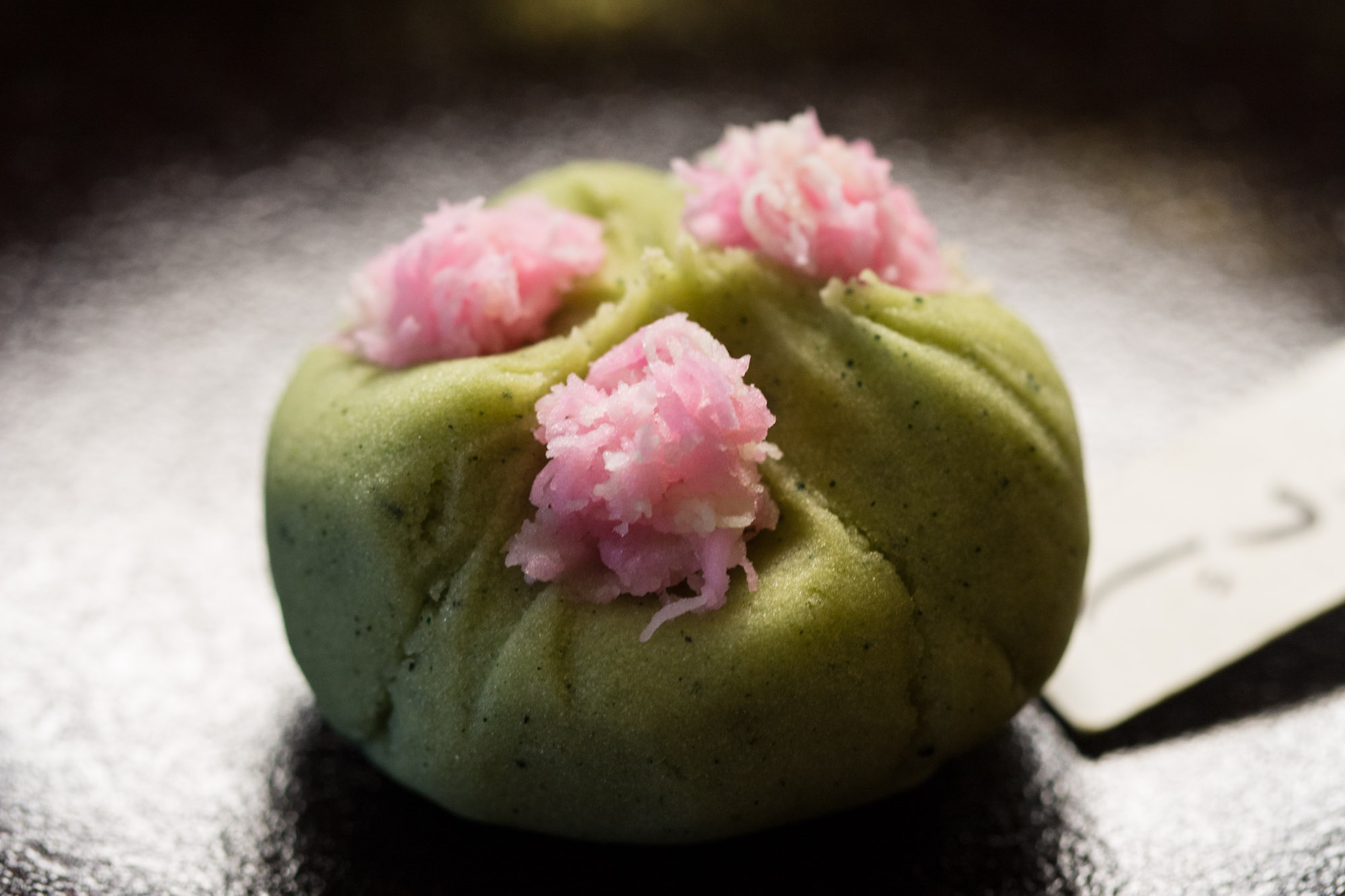 Azaleas with their roots in a stone - Juko, Kyoto (served at tea ceremony)